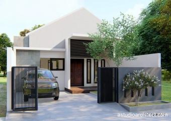 desain rumah: detil produk desain rumah 1 lantai dengan 2