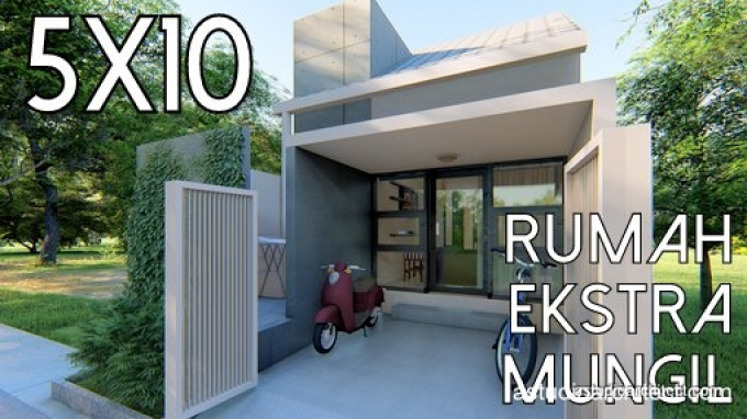 Desain Rumah: Desain Rumah Kecil 5x10 M By Homeplans.id