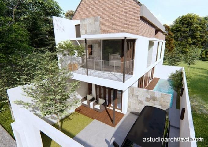 Desain Rumah Detil Produk Desain Rumah Memanjang Dengan Kolam Renang 8x18 M Kode 177b By Homeplans Id