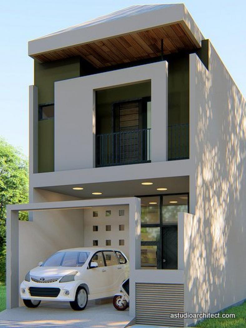 Desain Rumah Desain Rumah Mungil 2 Lantai 5x12 M By Homeplans Id
